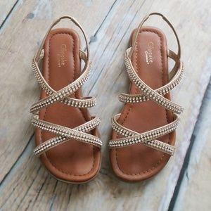 Other - Girls strappy sandals rhinestone